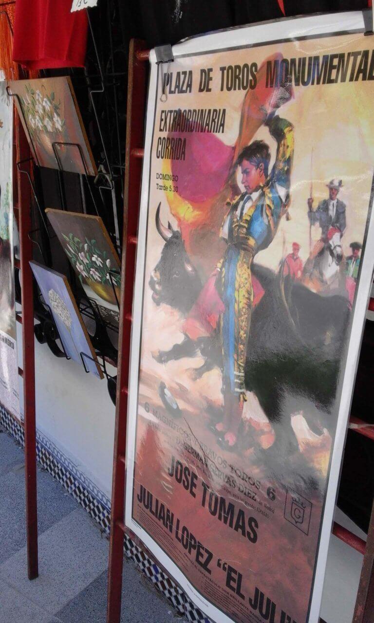 Plakat eines Stierkämpfers in Mijas Pueblo