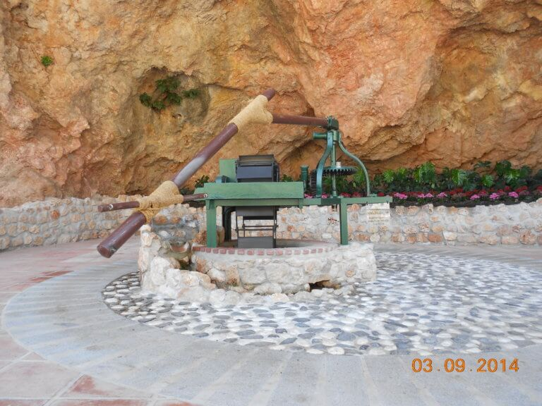 Ölmühle ohne Eseln i Mijas Pueblo