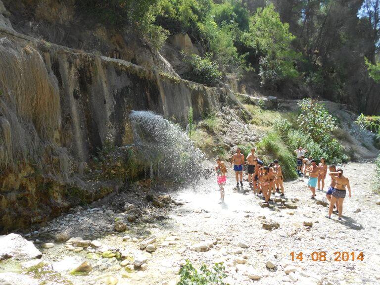 erfrischender Wasserfall Nerja